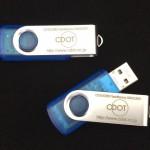 TP501blueスケルトン USBメモリー UVインクジェット印刷